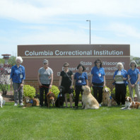 Dogs and partners pictured. Visits to Columbia Correctional Institution